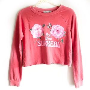 NWT | WILDFOX It's Been Surreal Beach House Crop S